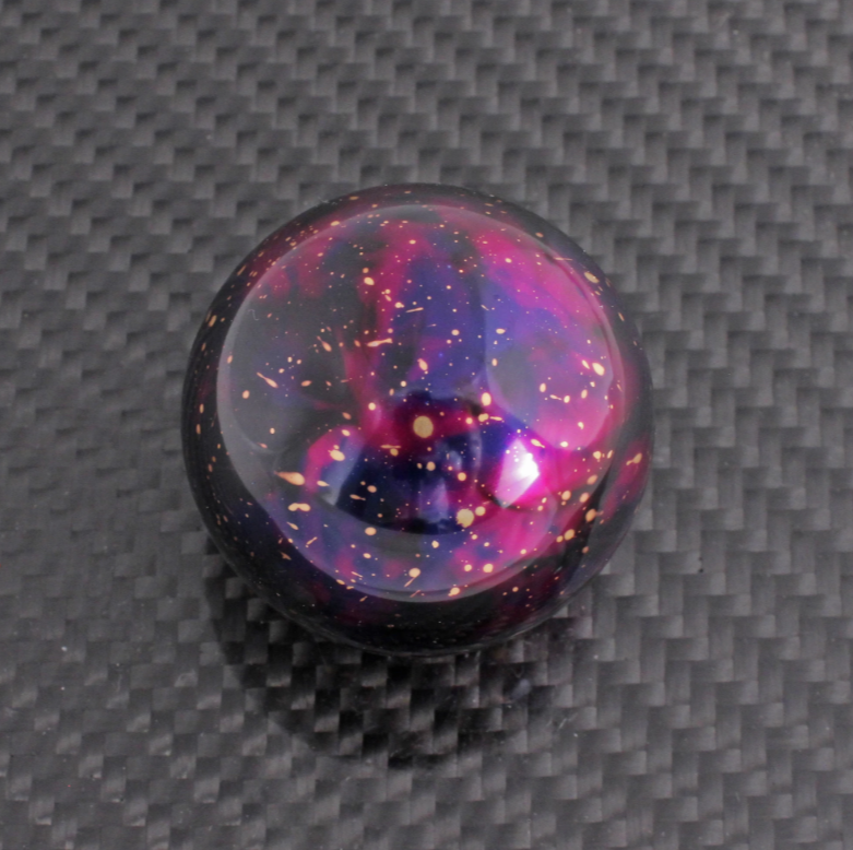 BILLETWORKZ PURPLE COSMIC SPACE SHIFT KNOBS