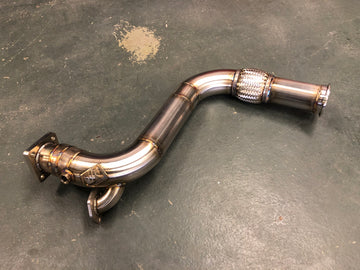 "Mint Performance Audi S4 20v i5 3"" Downpipe Stock Placement"
