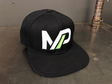 Mint Performance Snapback Hat Black