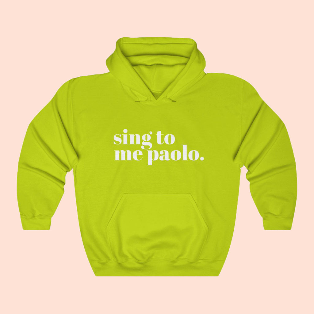 SING TO ME PAOLO NEON - UNISEX HOODIE