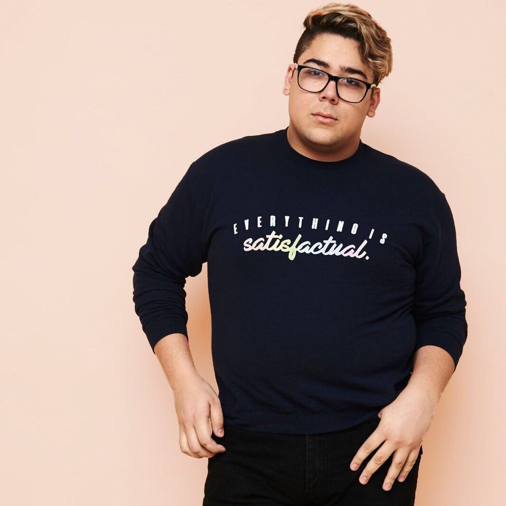 EVERYTHING IS SATISFACTUAL - UNISEX CREWNECK