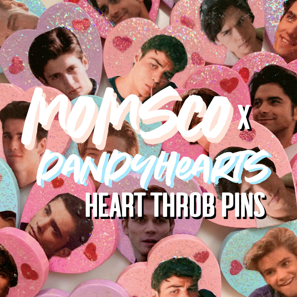 DANDY HEARTS x MOMSCo. HEART THROB PINS