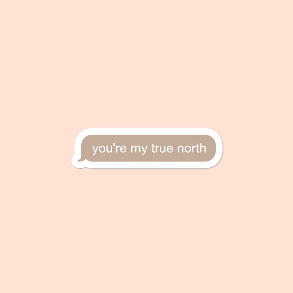 YOU'RE MY TRUE NORTH TXT - 3x3 STICKER