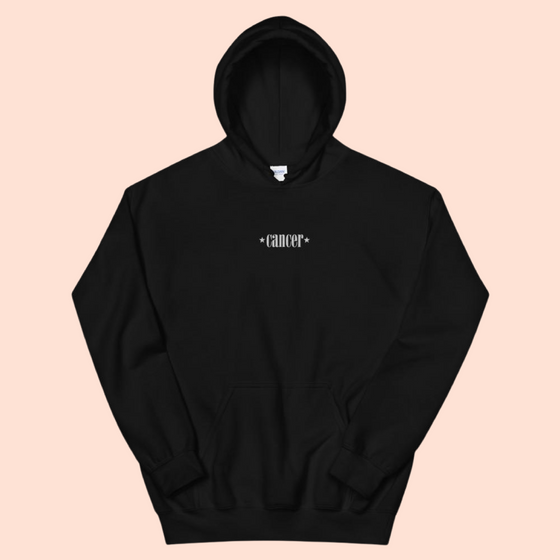 CANCER EMBROIDERED -- UNISEX HOODIE