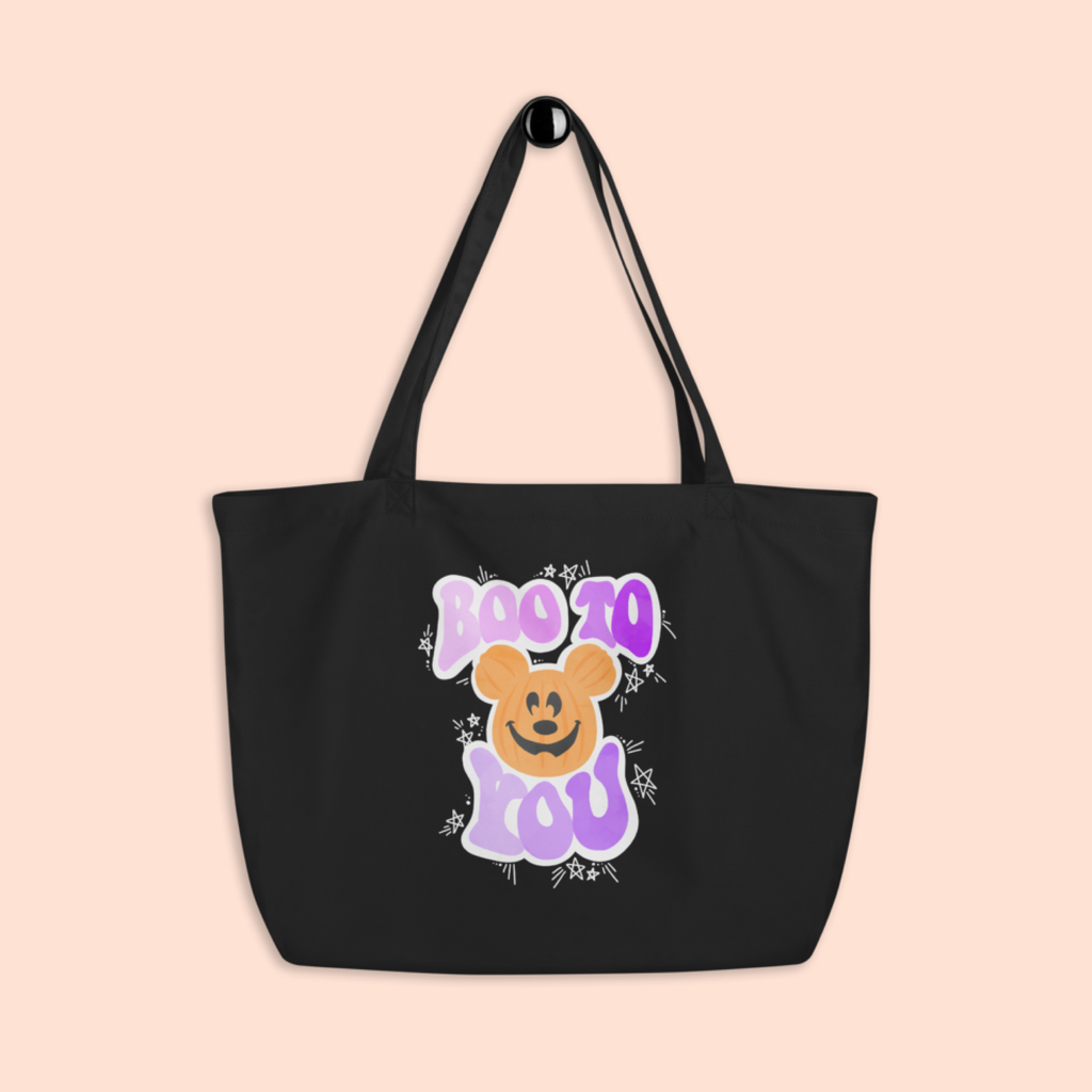 BOO TO YOU -- BLACK TOTE BAG