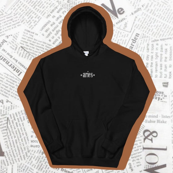 ARIES EMBROIDERED -- UNISEX HOODIE
