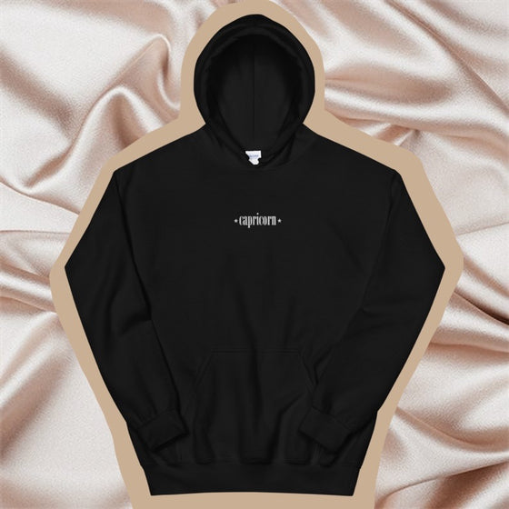 CAPRICORN EMBROIDERED -- UNISEX HOODIE