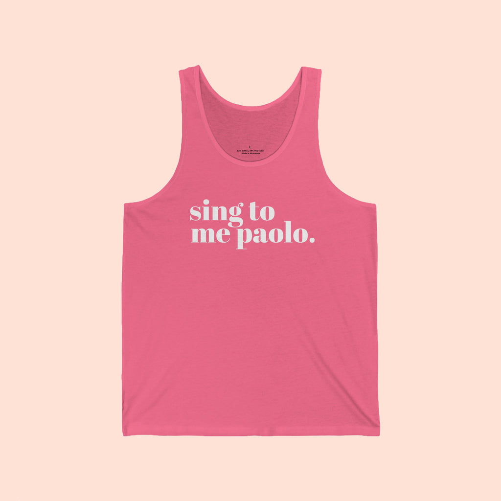 SING TO ME PAOLO NEON - UNISEX TANK