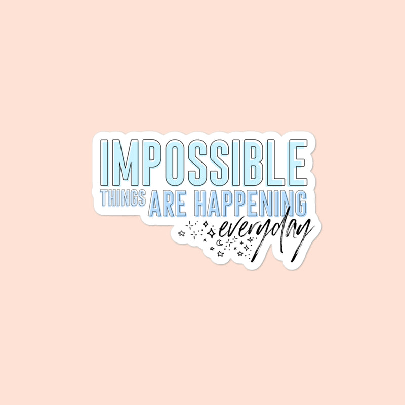 IMPOSSIBLE THINGS - 4x4 STICKER