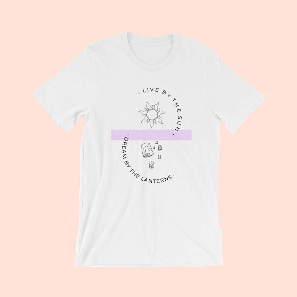LIVE BY THE SUN, DREAM BY THE LANTERNS -- UNISEX TEE