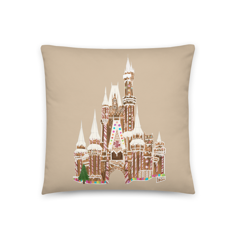 '72 GINGERBREAD CASTLE -- 18x18 PILLOW