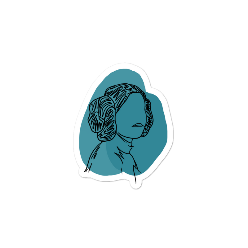 LEIA (blue) -- 3x3 STICKER
