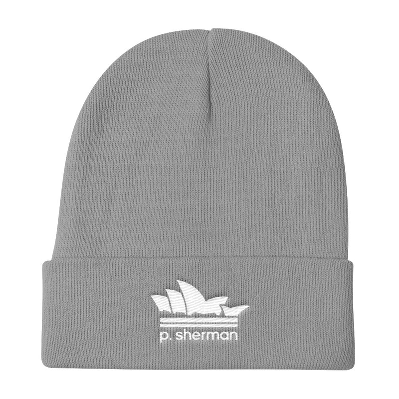 P. SHERMAN - BEANIE (WHITE EMBROIDERY)