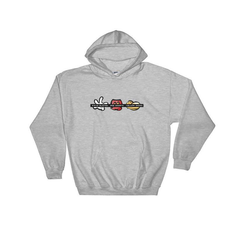 WHITE GLOVES, RED SHORTS . . . - UNISEX HOODIE