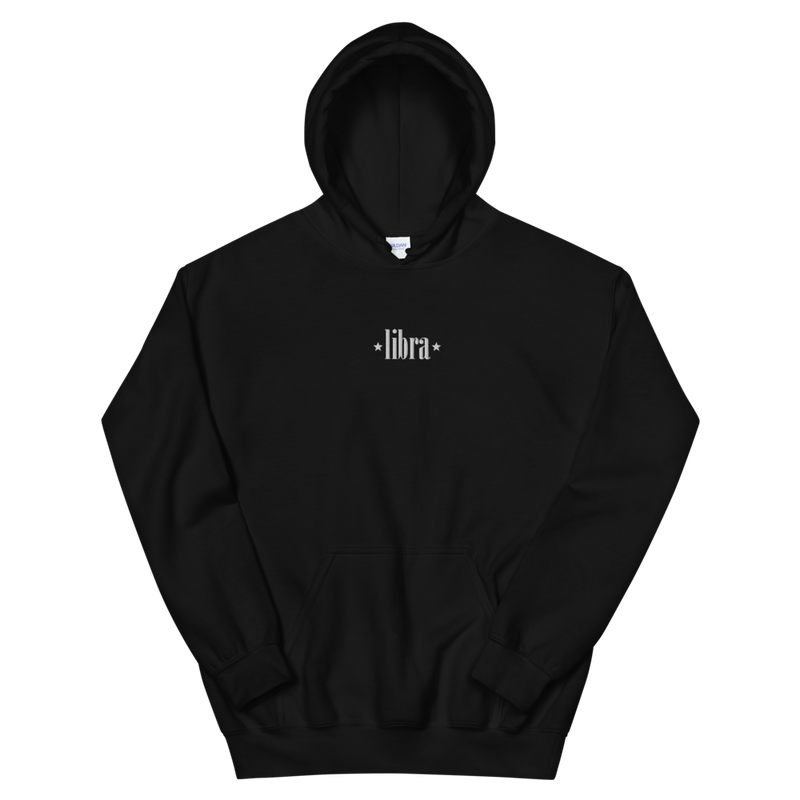 LIBRA EMBROIDERED -- UNISEX HOODIE