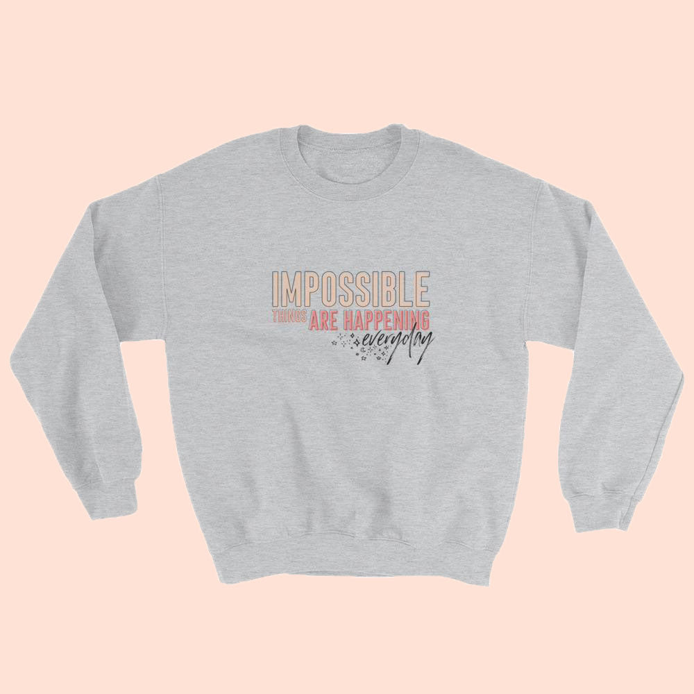 IMPOSSIBLE (PEACH) - UNISEX CREWNECK