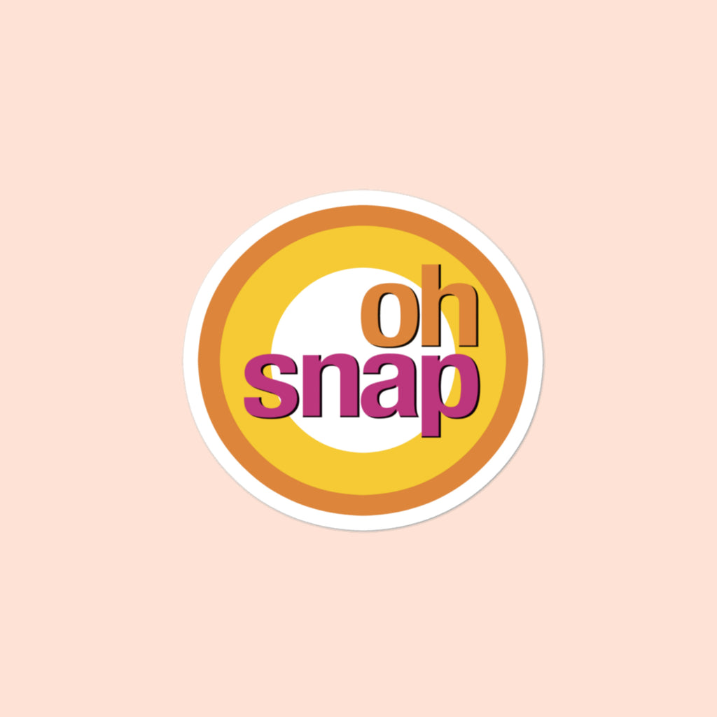 OH SNAP - 4x4 STICKER