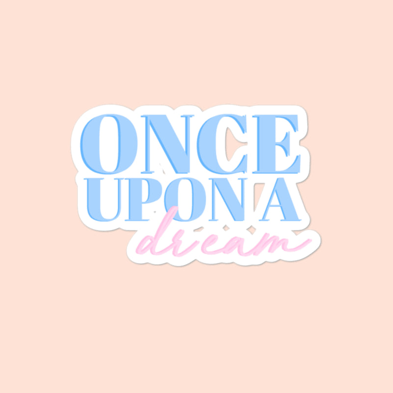 ONCE UPON A DREAM - 4x4 STICKER