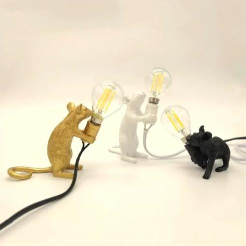 Luminárias decorativas Mini Rat - 03 cores / individuais