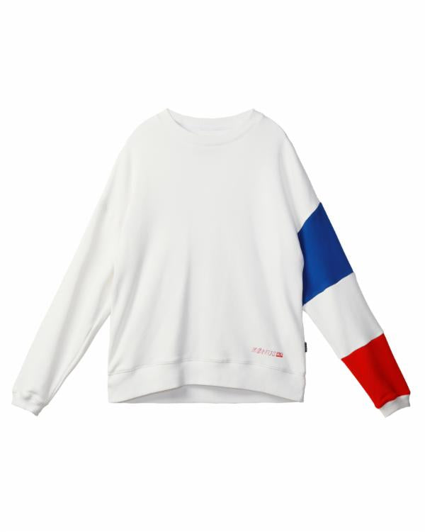 LS SWEATSHIRT WITH COLOR BLOCKED SLEEVE / MCQUEEN