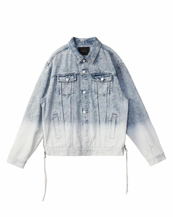 Waeho Lee : DENIM TRUCKER WITH OMBRE BLEACHING / CLARK