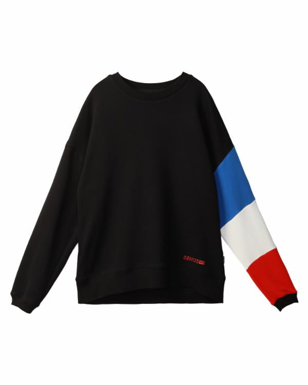 Noah Nguyen : LS SWEATSHIRT WITH COLOR BLOCKED SLEEVE / MCQUEEN