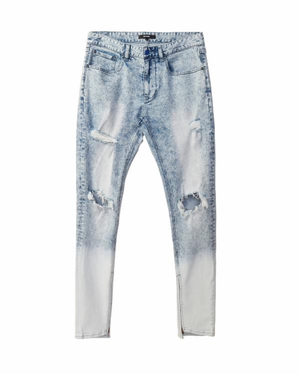 ACID WASHED BLUE DENIM / HUNT