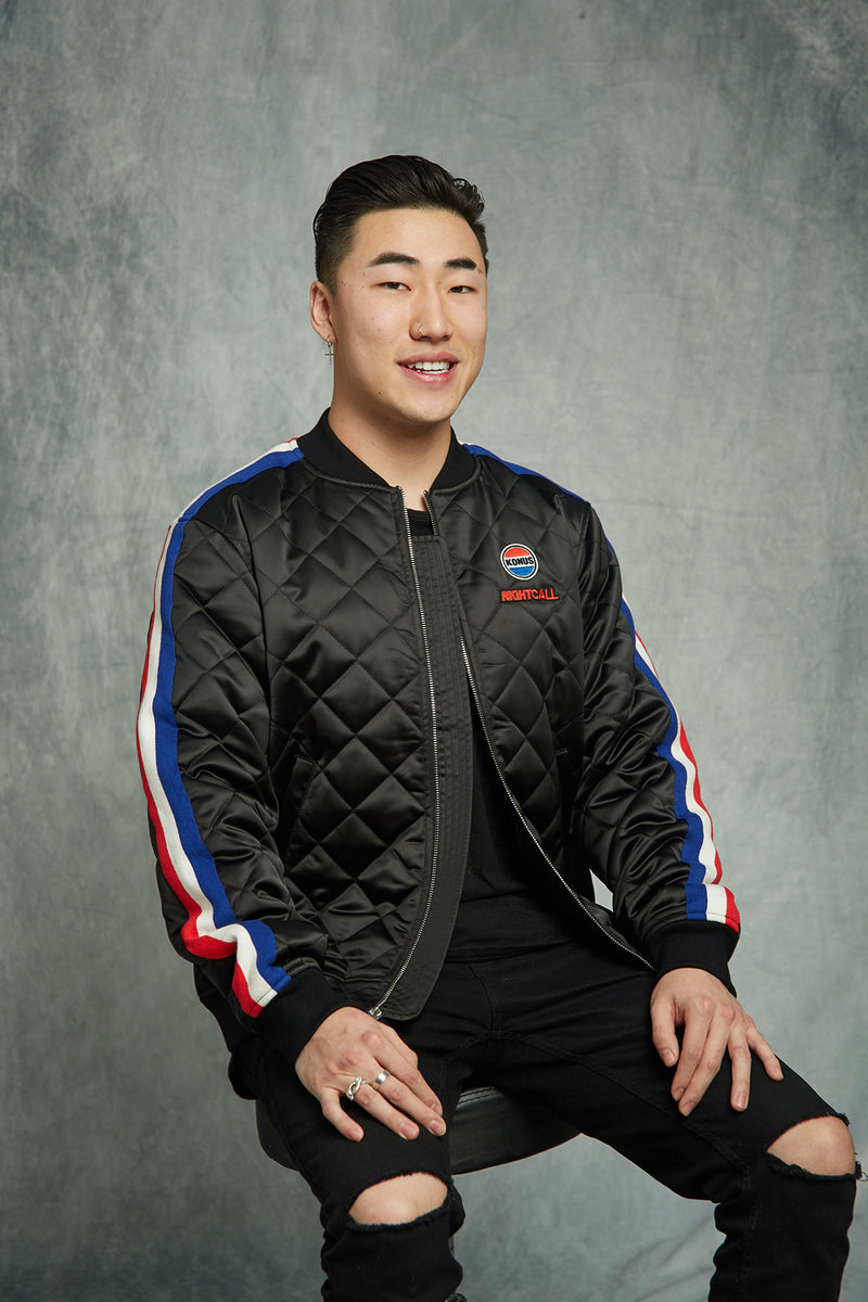 Teddy Chen : QUILTED SATIN JACKET / DRIVE