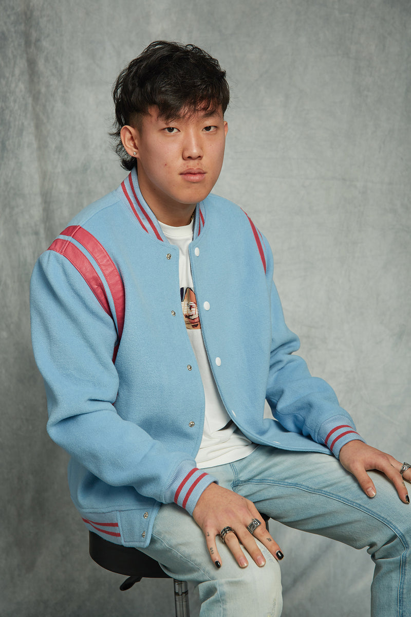 Ho Lee : WOOL BLEND VARSITY JACKET / CASE