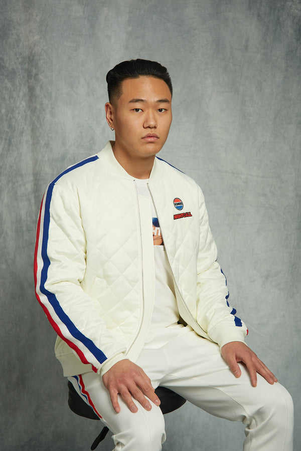 Vincent Chen : QUILTED SATIN JACKET / DRIVE