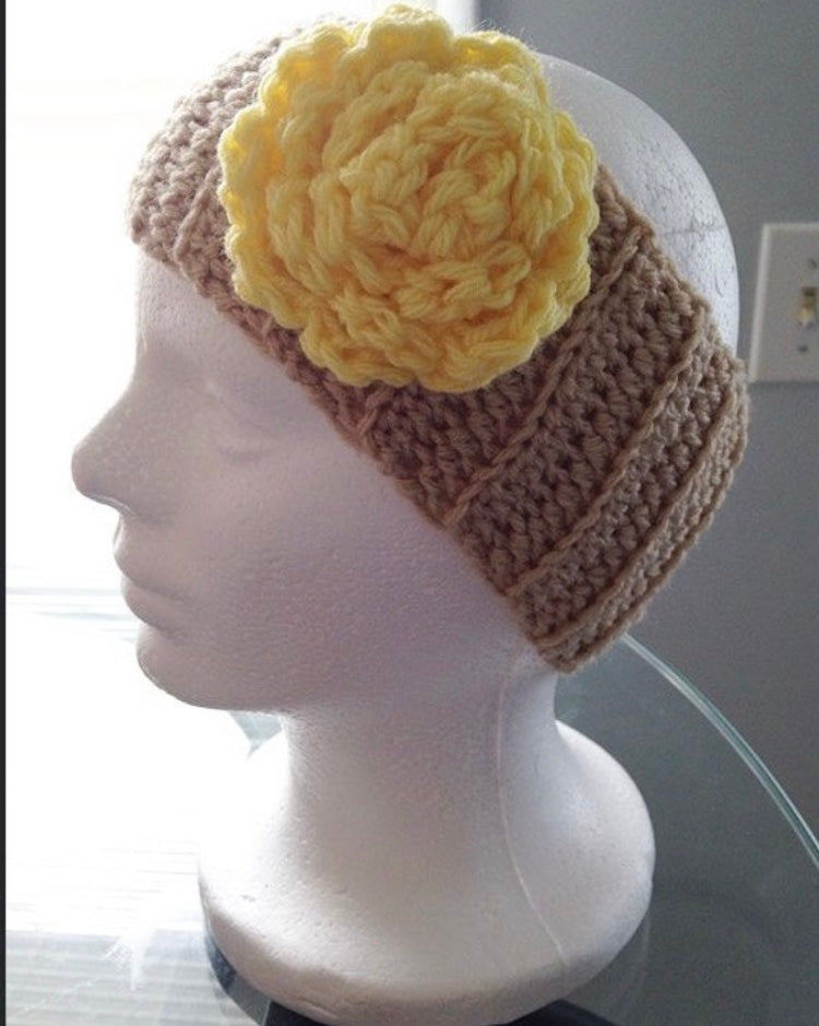 Crochet Ear Warmer Headband Handmade Tanyellow Retro Dolls Us