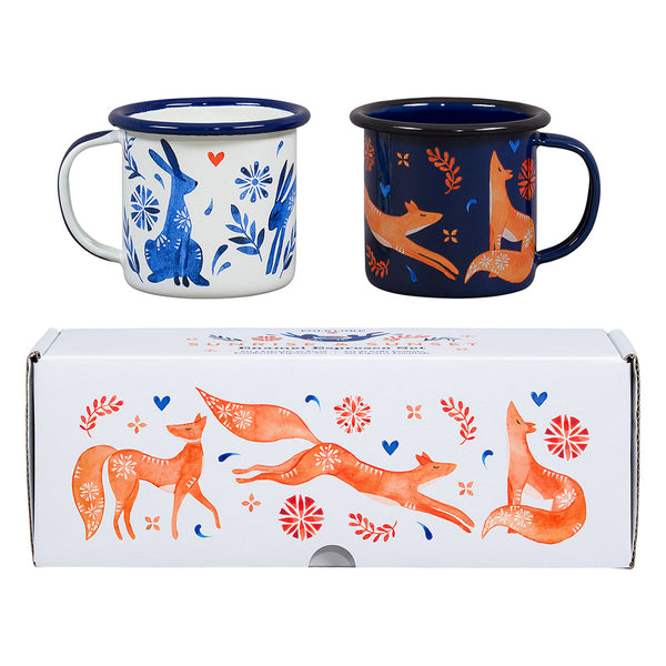 Folklore Espresso Set of 2 Hare and Fox