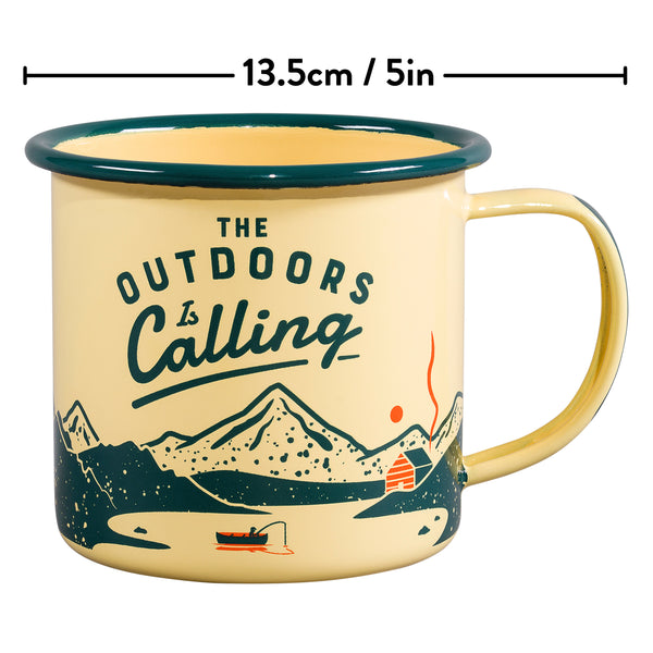 Gentlemen's Hardware Yellow Outdoors Enamel Mug