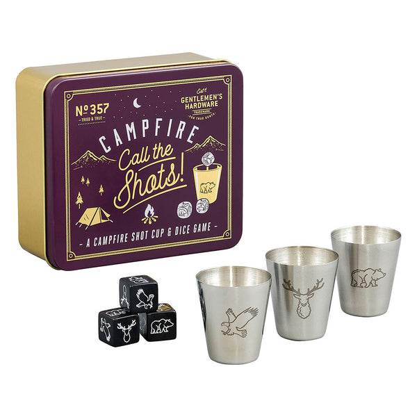 Gentlemen's Hardware Campfire Call the Shots Drinking Dice Game