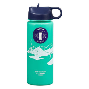 Gentlemen's Hardware Glow In The Dark Water Bottle 700ml