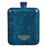 Gentlemen's Hardware Blue Speckled Hip Flask