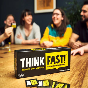 Ridley's Games Think Fast Table-Top Card Trivia Quiz Game for 3 or more players