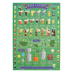 Ridley's Games Beer Lover's 500 Piece Jigsaw Puzzle