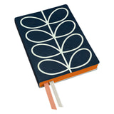 Orla Kiely Linear Stem Navy A5 Notebook