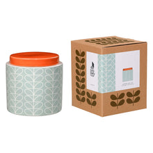 Orla Kiely Large Storage Jar, Linear Stem Design in Duck Egg Blue