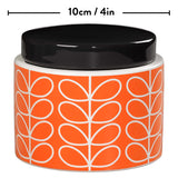 Orla Kiely Small Persimmon Linear Stem Storage Jar
