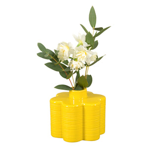 Orla Kiely Stem Vase, 6 Petal Yellow Design in Dandelion