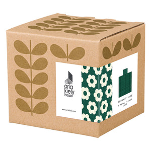 Orla Kiely Stem Vase, Striped Petal Design in  Jade