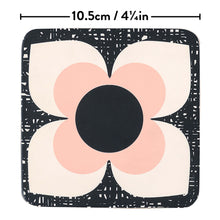 Coasters Set of 6 Scribble Square Flower