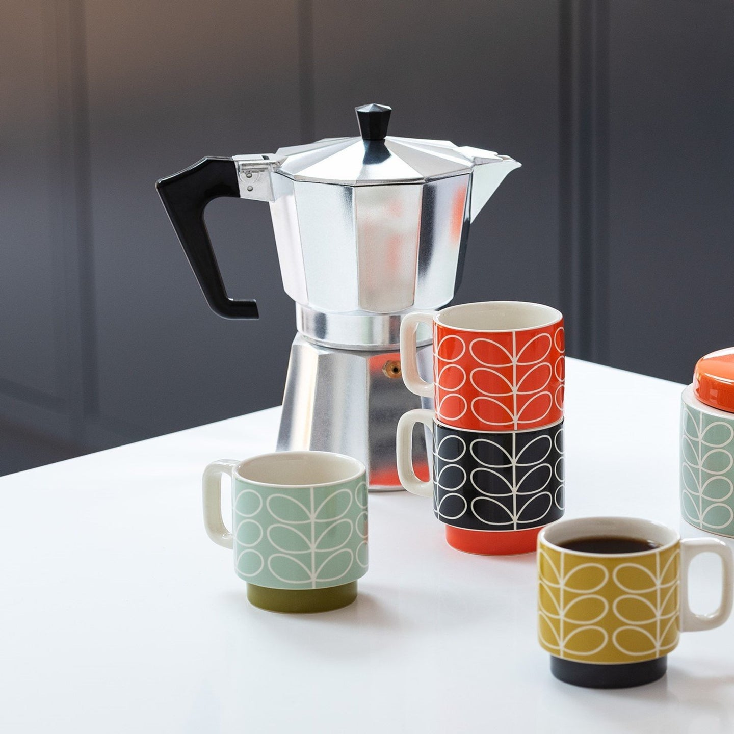 Orla Kiely Stacking Espresso Mugs