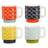 Orla Kiely Stacking Espresso Mugs Set of 4