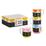 Orla Kiely Sunflower Stacking Mugs Set of 4