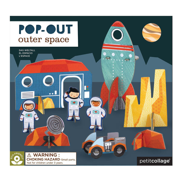 Petit Collage Pop-out and Build Outer Space Playset