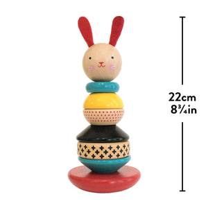 Petit Collage Wooden Rabbit Stacker Toy