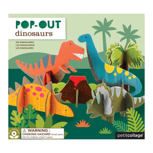 Petit Collage Pop-out and Build Dinosaurs Playset